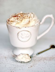 Caffè viennese. Buonissimo! Strong italian coffee and whipped cream and cocoa…