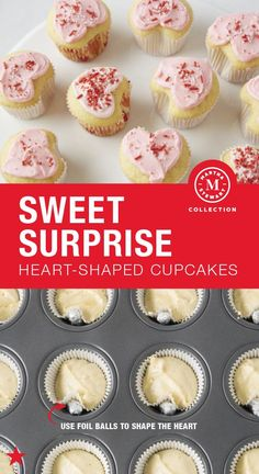 Valentine's Day is a holiday that celebrates love—and is best enjoyed with lots of desserts (if you ask us!). Whether you are baking for the one you love or gathering the squad for a Galentine's Day bash, these sweet heart-shaped cupcakes are the way to go. (TIP: Use foil balls to shape the cupcakes into hearts like shown in the pin!) Bake them yourself all with a little help from the Martha Stewart Collection. Shop now!