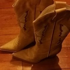 Cowboy boots Tan and brown cowboy boots Shoes Heeled Boots