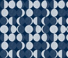 Moon Phases Embroidery fabric by marketa_stengl on Spoonflower - custom fabric