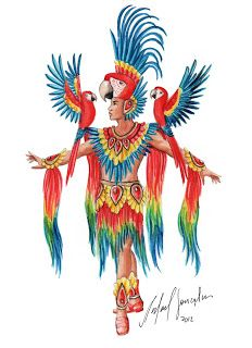 Caribbean Carnival Costumes, Carnival Outfits, Rio Carnival, Miss Universe National Costume, Parrot Costume, Rhinestone Fabric, Showgirl Costume, Festival Costumes, Mexican Art