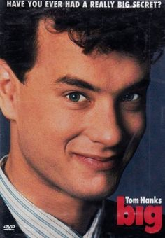 Big -- Josh Baskin (Tom Hanks) is a 12 year-old boy who has been transformed into a 35 year-old man by a carnival wishing machine and finds himself romantically involved with sophisticated executive Susan Lawrence (Elizabeth Perkins).