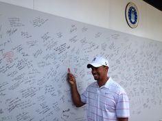 #golf #military signing of We Salute Our Heroes tribute wall