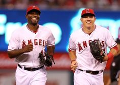 Mike Trout & Torii Hunter - Angels Baseball I'm sure going to miss hunter play for the angels!!!