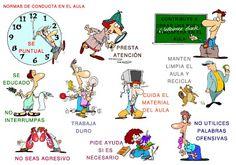 Normas en el aula. #educación Spanish Teacher, Spanish Classroom, Teaching Spanish, Classroom Rules, Classroom Activities, Rules And Procedures, Class Games, Tools For Teaching, Spanish Humor