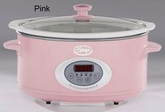 Pink slow cooker I want this sitting next to my pink Kitchen Aid mixer