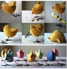 Bekijk de foto van knutselcar met als titel kipjes gemaakt van vilt. en andere inspirerende plaatjes op Welke.nl.
