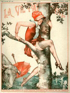 1920s France La Vie Parisienne Magazine Drawing  - 1920s France La Vie Parisienne Magazine Fine Art Print