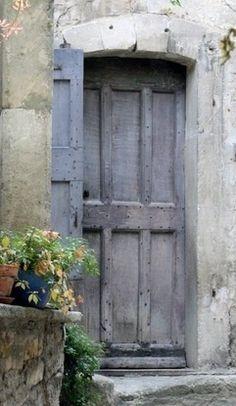 Monochromatic old door....