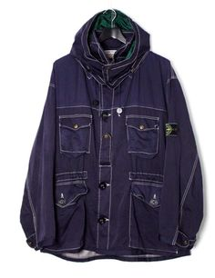 Stone Island SS 1986 Hooded Mountain Parka Cool Jackets, Stone Island, Softshell, S Man, Mix N Match, Fashion Shoot, Denim Fashion, Color Mixing, Parka