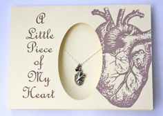 Tiny Heart Necklace on Card by Anatomology