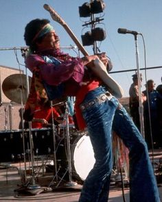 Jimi Hendrix Playing Guitar