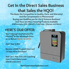 Looking for an opportunity to create a #ResidualIncome? #DontMissOutOnThis!  Go to www.NextGenerationHydration.com to #Learn about this fantastic offer to join our #DirectSales Team. Our #HQO #WaterIonizer is causing a #raucous in the #IonizedWater Industry.  #TopEarners at #Kagen are forgoing the #Enagic and joining us.  That's because the HQO #Ionization #System is #Superior to any other on the market.  #ButThatsNotAll!  Our company offers so much more!  While #HQOWater is #awesome, our…