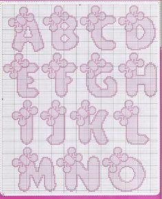 Veve Pontinhos: Monogramas e Alfabetos em Ponto Cruz Part. 5.    Completo