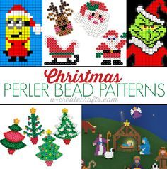 HAMA PERLER BEADS / PERLES À REPASSER / STRIJKPARELS - Christmas Perler Bead Patterns at u-createcrafts.com