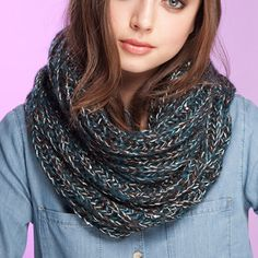 Bonnie Cowl Scarf Teal Olive, 40€, now featured on Fab.