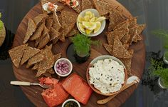 Hot-smoked salmon, unlike cured, is fully cooked. Serve with bagels and caper cream cheese.