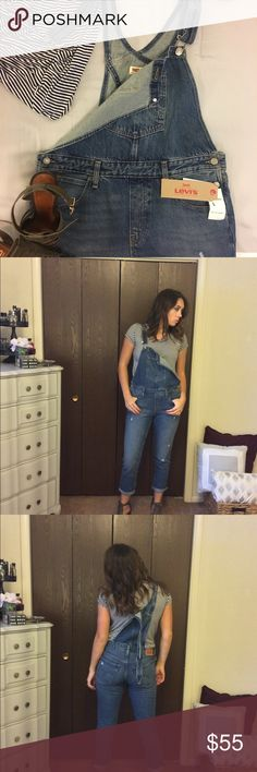 Levi's fashion overalls Never worn, tags still on, super comfortable Levi's overalls. I am wearing a size 8 which I kept, but selling the size 10, which is pictured in the cover photo. Fashionable, but if your looking for something durable these work too! Levi's Jeans Overalls
