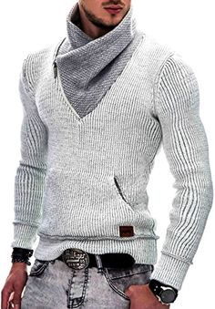 Indicode Homme Pull à Capuche Tricot Pullover Sweatshirt Dane Sweater Outfits, Casual Outfits, Men Sweater, Men Casual, Mens Fashion Sweaters, Casual Sweaters, Fashion Wear, Fashion Outfits, Mode Man