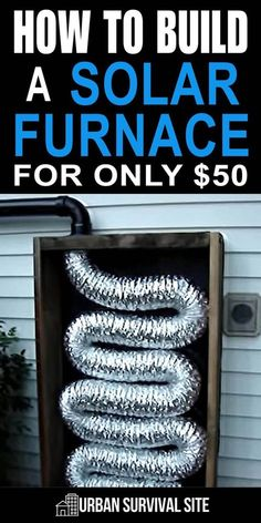 A solar furnace could keep a single room nice and warm on a sunny day. This would be great if the power went out as you wouldn't have to use any of your fuel. #urbansurvivalsite #solar #solarenergy #offgrid #diy