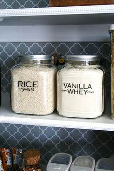 Organizing a pantry with glass jars is cheap and easy Used this
