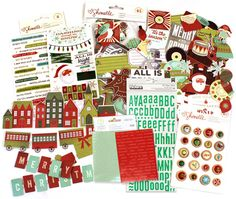 Today's Peachy Cheap deal is a set of embellishments from American Crafts Shimelle Christmas Magic line. You will receive a large pack of Die-cut Ephemera, Puffy Thickers, Rub-ons, Phrase Stickers and Wood/Epoxy Buttons. ONLY $7.99