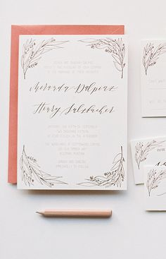 Winter Berry Invitation Suite by Cast Calligraphy. Photo by Orange Photographie