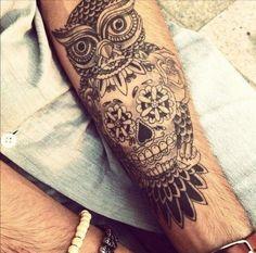35 photos de tatouage de tête de mort mexicaine - 23