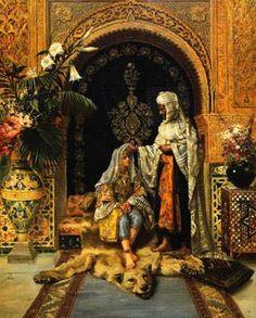 The Favorite: 1872 by  Rudolf Ernst Austrian Orientalist Artist 1854 - 1932