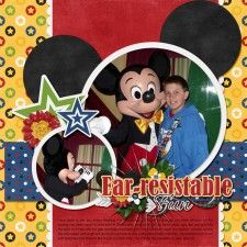 Ear-Resistable Fun - MouseScrappers - Disney Scrapbooking Gallery