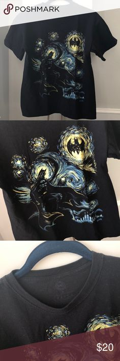 Starry Night Batman T-shirt Starry Night Batman short sleeved top. Gently worn. DC Tops Tees - Short Sleeve