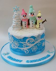Snowgirls! - by RosesandBowsCakery @ CakesDecor.com - cake decorating website