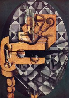 TICMUSart: Guitar, Bottle and Glass - Juan Gris (1914) (I. M.)