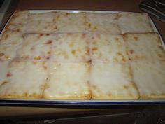 Custard Slices with cream crackers