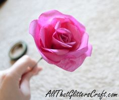 How to make your own silk rose!