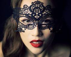Dollar Shipping! PROM MASK Masquerade Mask Lace Mask Mardi Gras Mask Ball Mask Phantom of the Opera Mask Sexy Blindfold Gothic Mask