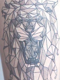 Black Line Tattoo, change to wolf design