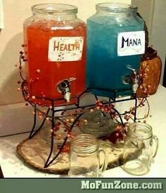 Health and mana juice - would decorate differently but love the idea!