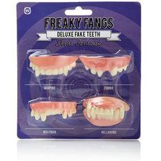 Freaky Fangs - Deluxe Fake Teeth - fake fangs, halloween, dress up, fancy dress, false teeth, deluxe freaky  fangs, teeth