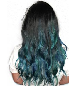 MERMAID HAIR balayage blue hair green hair unicornhait mermaidhair