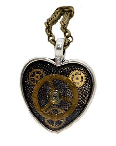 Steampunk / Timelord inspired Heart shaped by thelongwayround Time Lords, Pocket Watch, Heart Shapes, Steampunk, Pendant Necklace, Jewellery, Watches, Inspired, Silver