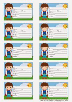 Etiquetas escolares - Cantinho do blog Layouts e Templates para Blogger