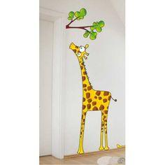 Madame Giraffe - Wall sticker by Acte Deco Baby Boutique, Deco, Wall Stickers, Ladybug, Baby Room, Giraffe, Modern, Kids, Animals