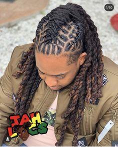 Dreadlock Hairstyles For Men, African Hairstyles, Loc Hairstyles For Men, Dyed Dreads, Long Dreads, Mens Dreadlock Styles, Dreads Styles, Braids With Fade, Braids For Black Hair