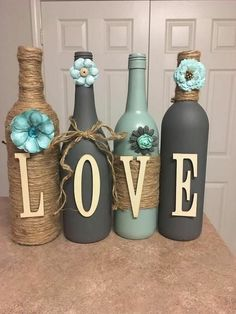 Style etsy custom wine bottles, empty wine bottles, liquor bottle crafts, p Liquor Bottle Crafts, Custom Wine Bottles, Empty Wine Bottles, Wine Bottle Art, Painted Wine Bottles, Diy Bottle, Decorative Wine Bottles, Crafts With Wine Bottles, Beer Bottle