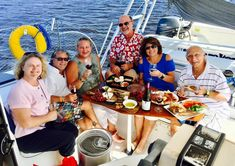 Family and friends gather aboard Moonraker to talk about the past, live in the moment and dream of the future. Captain Bruce often talks about making memories Wine Recipes, Great Recipes, Indian River Lagoon, Vero Beach Florida, Sailing Catamaran, Welcome Aboard, Paella, The Past, September