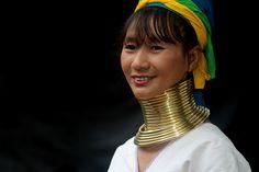 Asia - Northern Thailand / Padaung - Giraffevrouwen - Longneckwoman