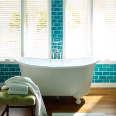 I do like this tile.  And the tub, of course.