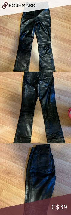 """Vintage Rudsak Leather Bootcut Pants **GORGEOUS** Obsessed with these but they don't fit. Slight mark shown in pics but I didn't even notice until I measured the rise. They would fit someone around size 23. Inseam=32"""" Rise= 9"""" Waist =12"""" RUDSAK Pants & Jumpsuits Boot Cut & Flare White Blazer Women, White Women, Blazer Dress, Pant Jumpsuit, Denim Cap, Pleated Tennis Skirt, Quay Australia Sunglasses, Pinstripe Pants, Shawl Cardigan"""
