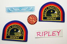 nostromo badge | ALIEN / ALIENS Nostromo Officer Patch Set (RIPLEY) 4 ...
